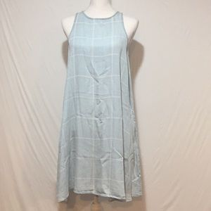 Velvet Heart Window Pane Flowy Dress with Pockets
